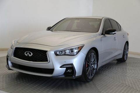 Certified Pre-Owned 2018 INFINITI Q50 Red Sport 400